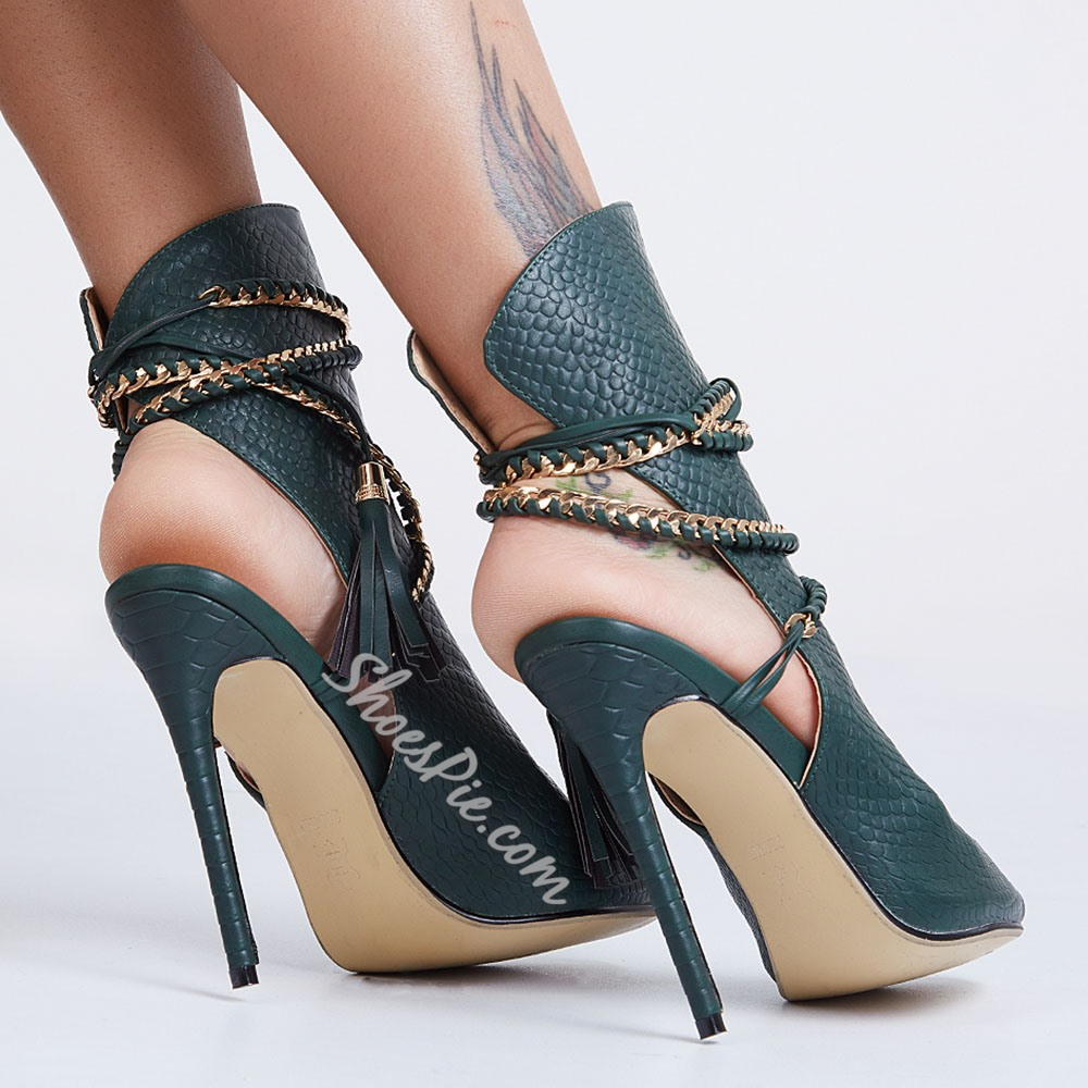 Shoespie Braided Ropes Wrap Sandals