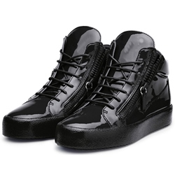 Shoespie Solid Black Men's Sneakers