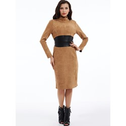 Plain Mid-Waist Turtleneck Bodycon Dress
