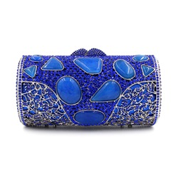 Shoespie Royal Blue Rhinestone Banquet Clutch Bag