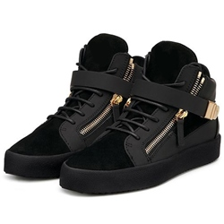 Shoespie Black Suede Men's Fashion Sneakers