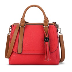 Shoespie Street Chic Contrast Color Handbag