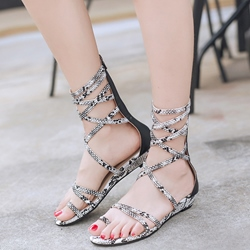 Shoespie Strappy Flat Gladiator Sandals