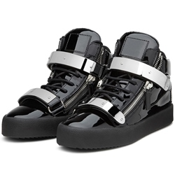 Shoespie Patent Leather Men's Fashion Sneakers