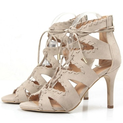 Shoespie Stiletto Heel Lace Up Sandals