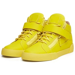 Shoespie Bright Yellow Men's Fashion Sneakers