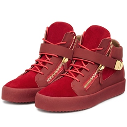 Shoespie Red Suede Men's Fashion Sneakers