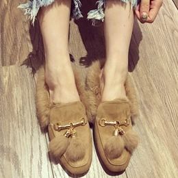 Shoespie Home Casual Furry Loafers
