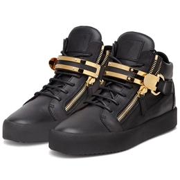 Shoespie Metal Buckles Men's Fashion Sneakers