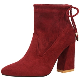 Shoespie Stylish Multi Color Back Tie Chunky Heel Fashion Booties