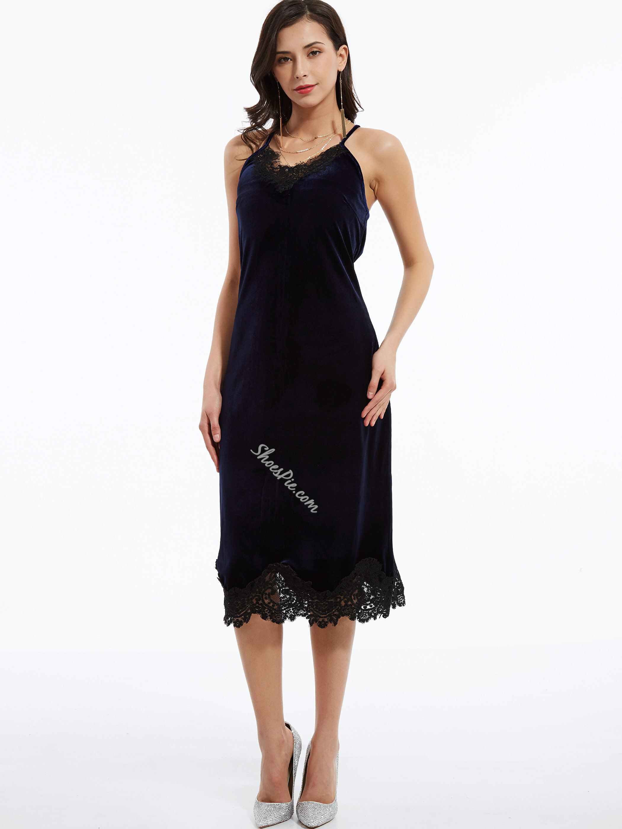 V-Neck Spaghetti Strap Day Dress