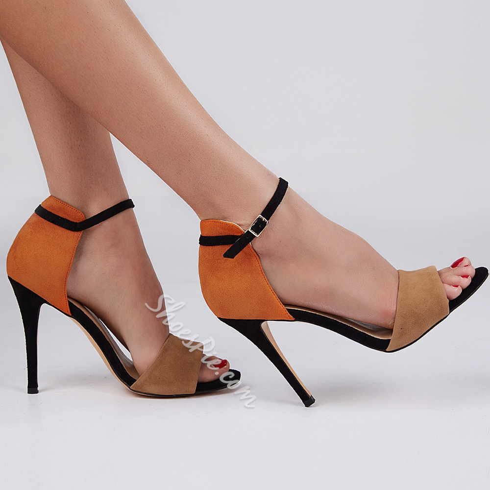 Miraculous Contrast Color Dress Sandals