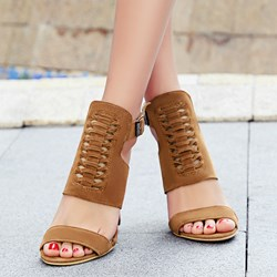 Shoespie Multi Color Cutout Sandals