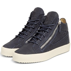Shoespie Embossed Leather Men's Fashion Sneakers