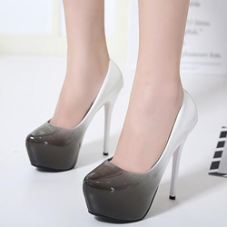 Shoespie Candy Color Chic Gradually Changing Banquet Platform Heels
