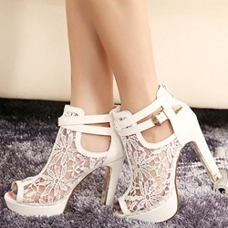 Shoespie Laces Platform Heel Sandals