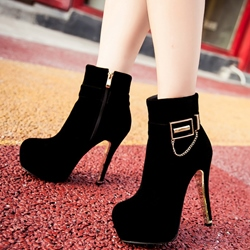 Shoespie Awesome Chain Embellished Platform Fashion Boots