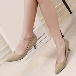 Shoespie Basic Style Plain Comfortable Kitten Heel Pumps