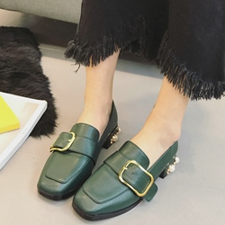 Shoespie Grannie Chic Buckle Loafers