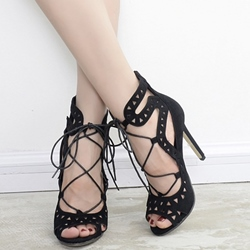 Shoespie Cut Lace Up Sandals