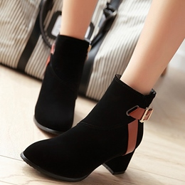 Shoespie Chic Street Style Buckle Fashion Booties