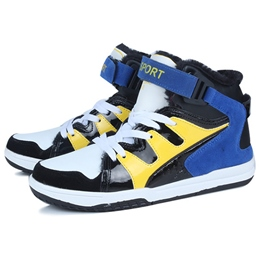 Shoespie Color Block Men's Basketball Sneakers