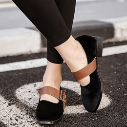 Shoespie Vintage Round Toe Buckle Mary Jane Shoes
