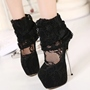ShoespieSexy Lace Platform Stiletto Heel Boots
