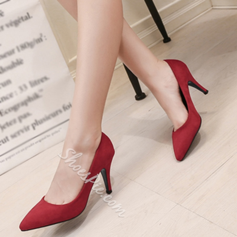 Shoespie Basic Style Comfortable Kitten Heel Pumps