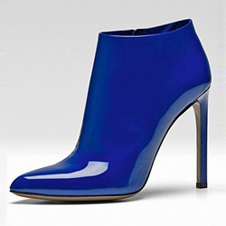 Shoespie Gorgeous Brillant Blue Shine Fashion Booties