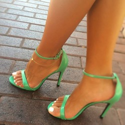 Shoespie Simply Greenery Dress Sandals