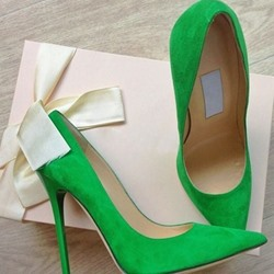 Shoespie Basic Street Greenery Stiletto Heels