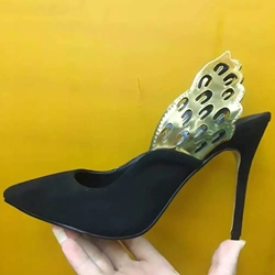 Shoespie Low-key Luxury Butterfly Wing Patchwork Stiletto Heels