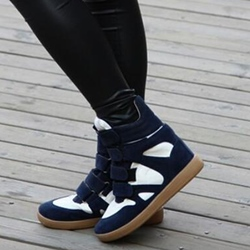Shoespie Color Block Velcro Elevated Sneakers