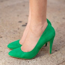 Shoespie Basic Elegant Greenery Stiletto Heels