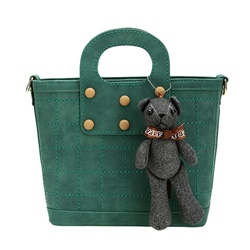 Shoespie Cute Bear Embellished Handbag