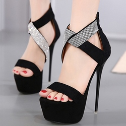 Shoespie Elegant Ankle Wrap Platform Heel Sandals