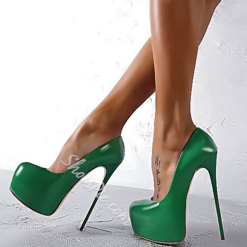 cc6089cf914c Shoespie Night Club Greenery Sky High Platform Heels- Shoespie.com