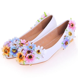 Appliques Low-Cut Upper Wedding Shoes