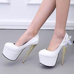 Shoespie Night Dating Rhinestone Flower Platform Heels