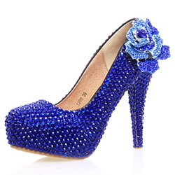 Shoespie Rhinestone Platform Ultra-High Heel Wedding Shoes