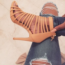 Shoespie Orange Cage Sandals