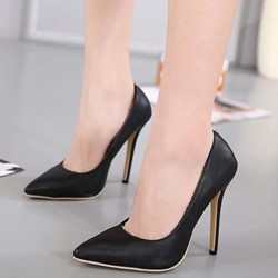 Shoespie Versatile Black Stiletto Heels