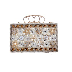 Shoespie Luxurious Sliver Jewelled Banquet Clutch Bag