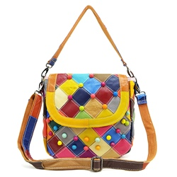 Shoespie Cute Multi Color Patchwork Mini Crossbody Bag