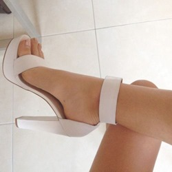 Shoespie White Platform Sandals
