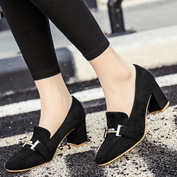Shoespie Chic Chunky Heel Pumps