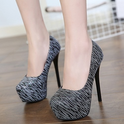 Shoespie Chic Two Tone Platform Heels