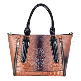 Shoespie Glossy Side Zipper Handbag