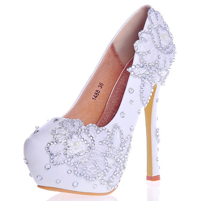 Shoespie Rhinestone Ultra-High Heel Wedding Shoe